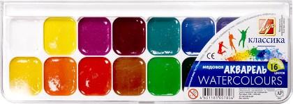 Краски акварель 16цв Классика ЛУЧ