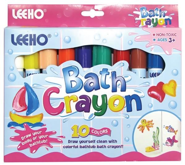 Мелки д/ванны 10цв 8гр Bath-Crayon LEEHO