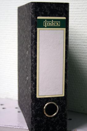 Папка-регистратор 80мм INDEX 250*210мм