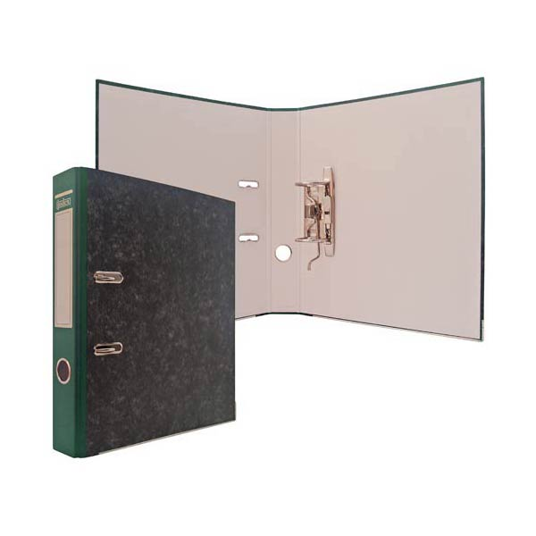Папка-регистратор 50мм INDEX черный мрамор