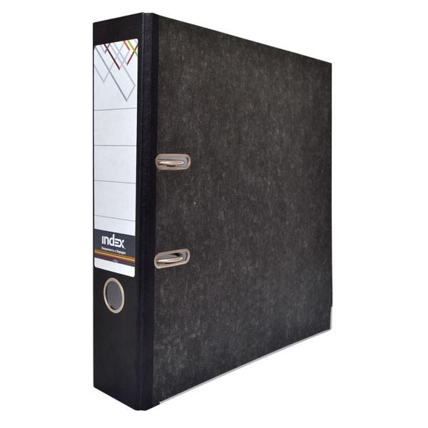 Папка-регистратор 80мм INDEX черный мрамор