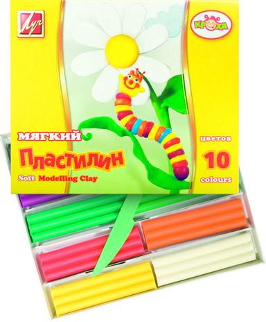 Пластилин 10цв 165гр Кроха ЛУЧ