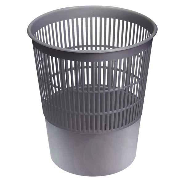 Корзина д/мусора 14л сетчатая СТАММ серая