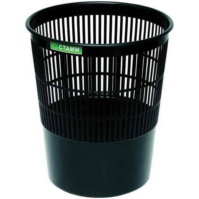 Корзина д/мусора 14л сетчатая СТАММ черная