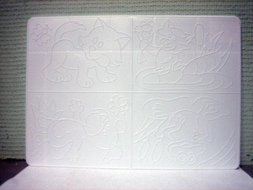 Доска д/пластилина А4 с рельефным трафаретом ЛУЧ