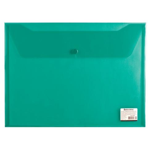 Папка-конверт с кнопкой А4 150мк BRAUBERG