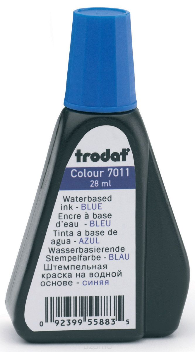 Штемпельная краска TRODAT 28мл синяя