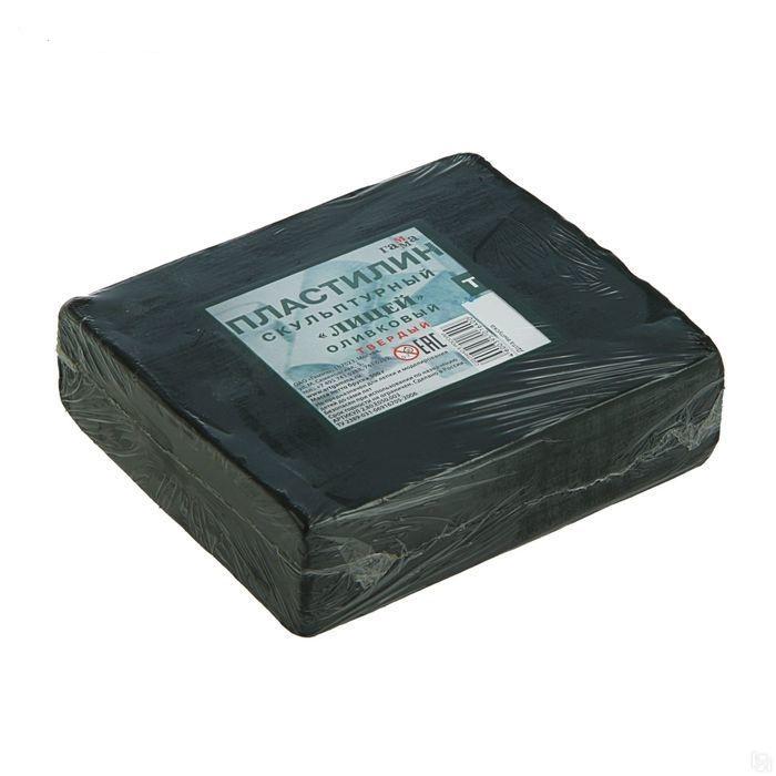 Пластилин 500г СКУЛЬПТУРНЫЙ оливковый твердый ГАММА