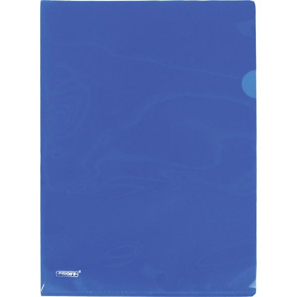 Папка-уголок А4 PROFF ALPHA 200мк синяя