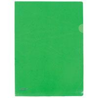 Папка-уголок А4 PROFF зеленая