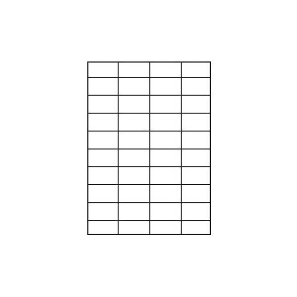 Этикетки самоклеящиеся INDEX А4 (52,5х29,7) 40 этикеток на листе белые
