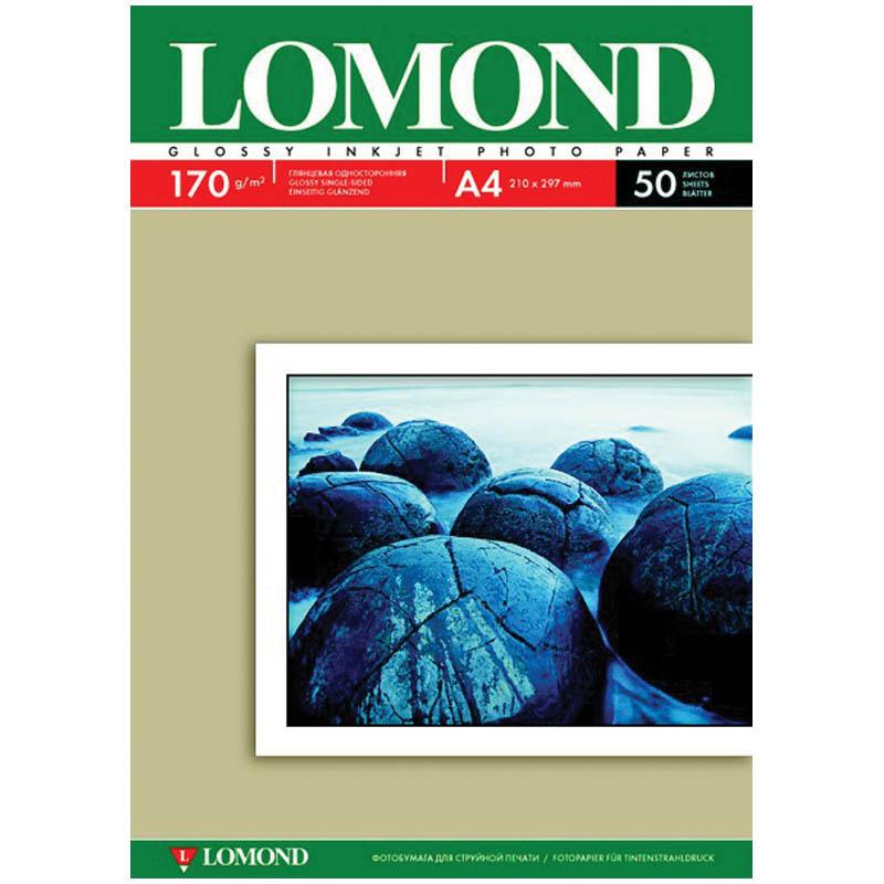 Бумага фото глянцевая А4/170/50 LOMOND