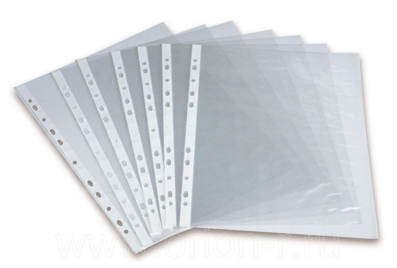 Папка-файл А4 с перфорацией 100мкм СуперЛюкс