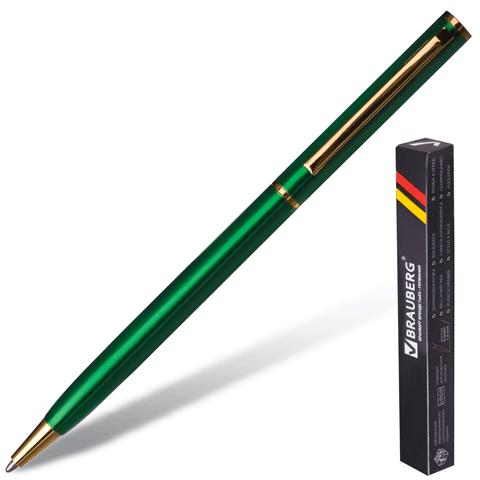 Ручка шариковая BRAUBERG ВС009 корпус зеленый синяя