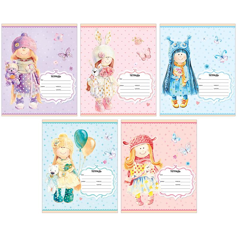 Тетрадь 12л линия Персонажи Lovely dolls