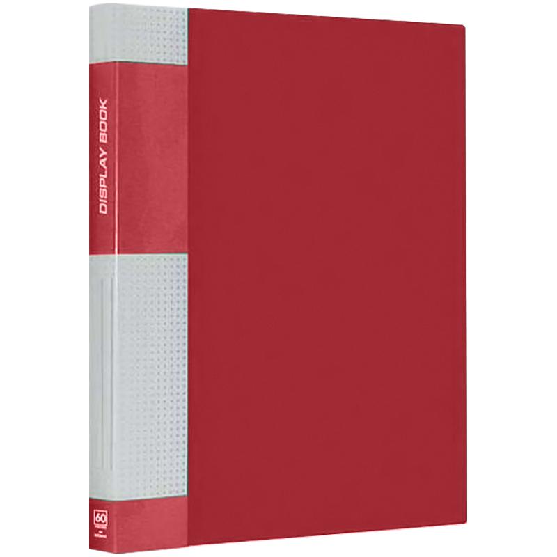 Папка с 60 файлaми BERLINGO 21мм 700мкм красная