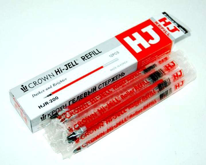 Стержень гелевый CROWN HJR-200 0,5мм красный