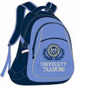 Рюкзак школьный Эмблема на голубом