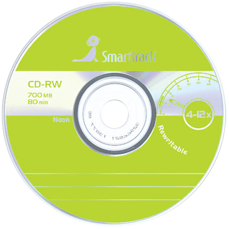 Диск CD-RW 700Mb Smart Track 4-12x Cake Box