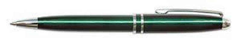 Ручка шариковая в футляре Silk Premium корпус зеленый/хром