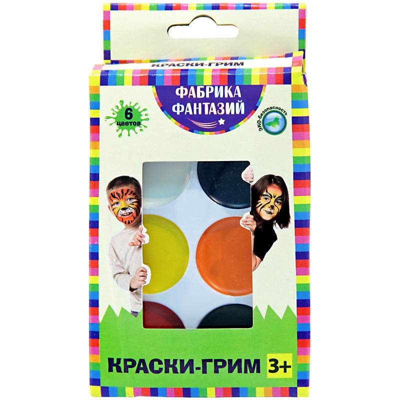 Краски д/грима 6 цветов кисть-аппликатор