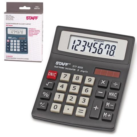 Калькулятор 8-разр 140*105мм STAFF