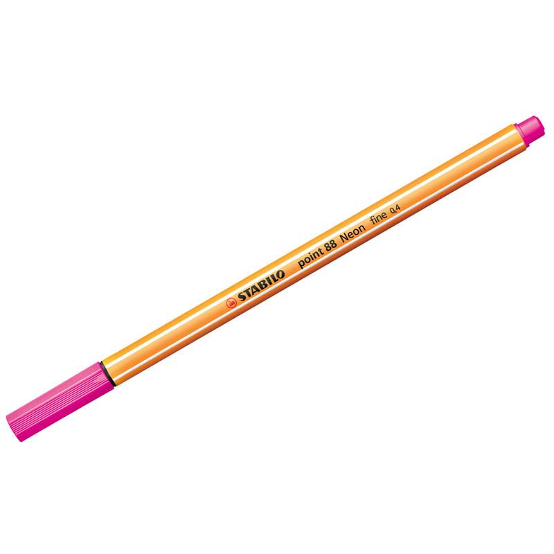Ручка капиллярная POINT 88 0.4мм розовая