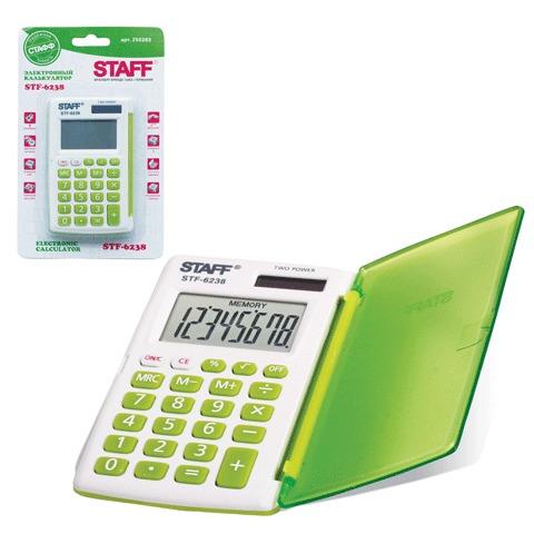 Калькулятор 8-разр 104*63мм STAFF