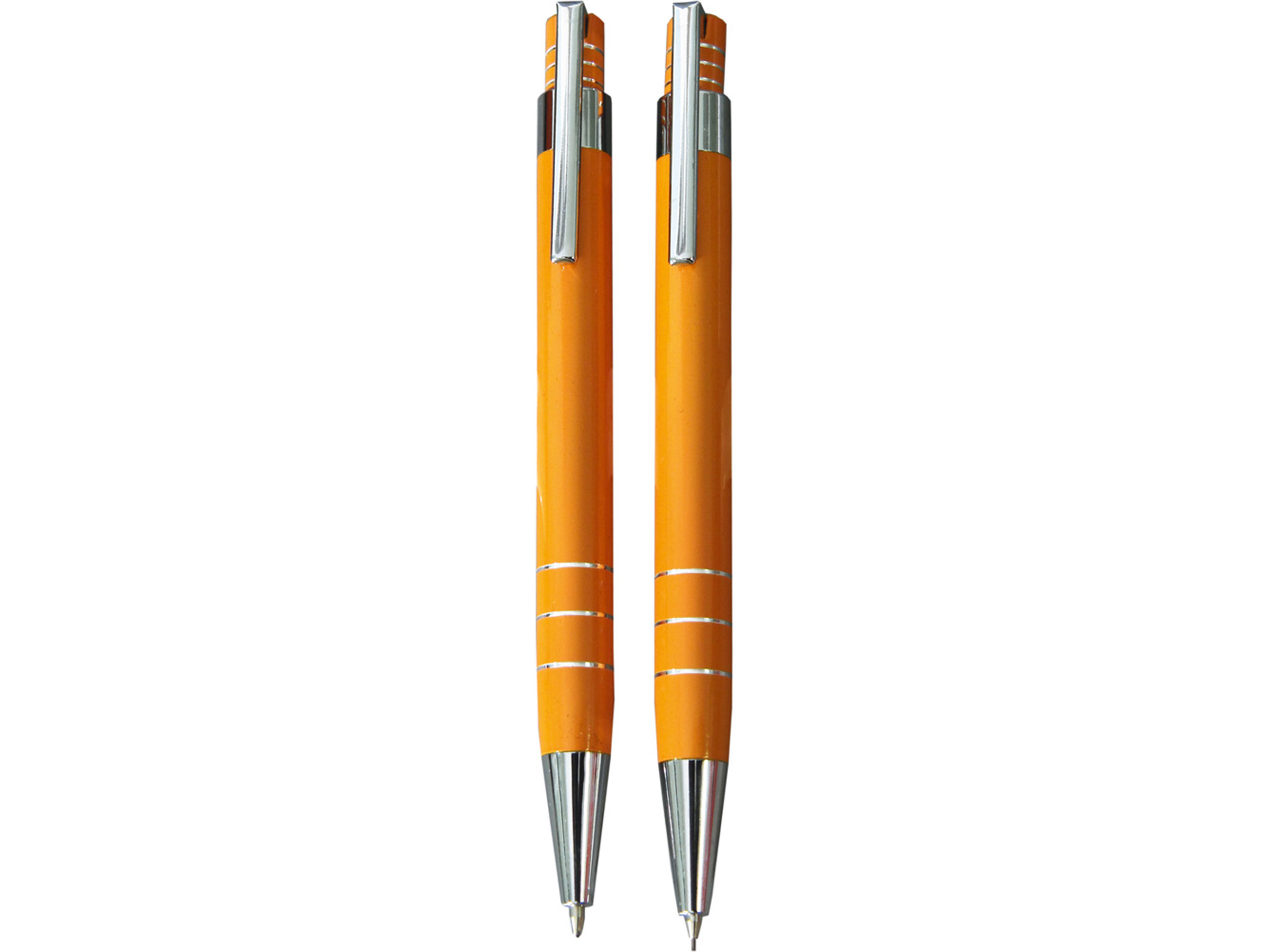 Ручка шариковая в футляре желтая